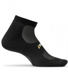 Feetures! High Performance Light Cushion Low Cut Socks Black, Large