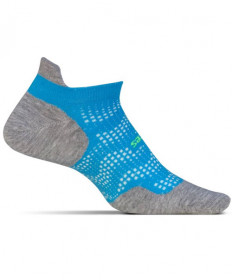 Feetures High Performance No Show Tab Socks Tropical Blue , Large FA501563