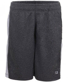 Fila Boys' Linear Shorts Ebony Heather TB173XF7-056