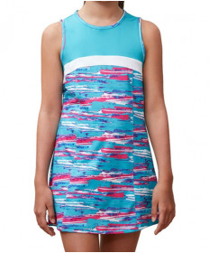 Fila Girls' Blue Wave Dress Bluebird Print TG181M92-487