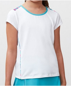 Fila Girls' Blue Wave Cap Sleeve Top White TG181M93-100