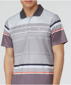 Fila Men's Court Deco Striped Polo Highrise TM173WK6-076