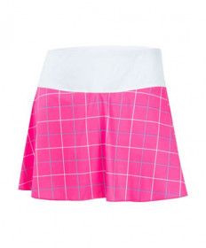Fila Women's Windowpane Flirty Skirt-Pink TW183X97-966