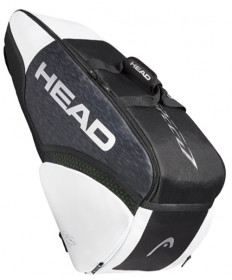 Head Djokovic Speed 6R Combi Tennis Bag Black/White 283029-BKWH