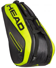 Head Extreme 9R 9-Pack Supercombi Tennis Bag Black/Neon Yellow 283409-BKNY