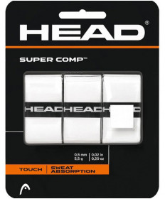 Head Supercomp Overgrips 3 Pack White 285088-WH