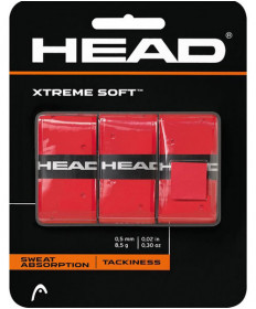 Head XTreme Soft Overgrips 3 Pack Red 285104-RD