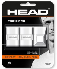 Head Prime Pro Overgrips 3 Pack White 285319