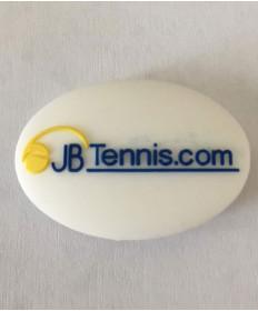 JB's Tennis String Dampener Oval White/Blue DAMPOVWHBL