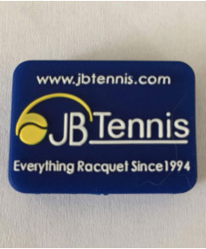 JB's Tennis String Dampener Rectangle Blue/White DAMPREBLWH
