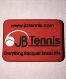 JB's Tennis String Dampener Rectangle Red/Black DAMPRERDBK