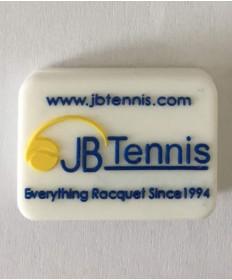 JB's Tennis String Dampener Rectangle White/Blue DAMPREWHBL