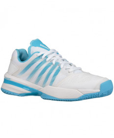 K-Swiss Women's Ultrashot Shoes White/Aquamarine 95648-184