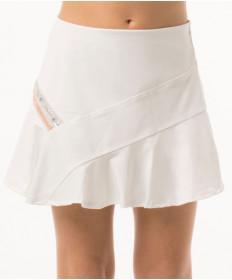 Lucky in Love Girls' Metallic Stripe Skirt White B95-120