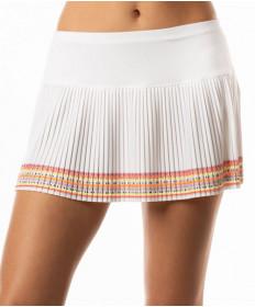 Lucky In Love Neon Vibes Border Pleated Skirt White CB228-663110