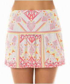 Lucky In Love Neon Vibes Good Vibes Pocket Skirt Coral Crush CB280-660647