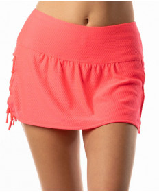 Lucky In Love Neon Vibes 13 Inch Knotted Skirt Coral Crush CB309-647