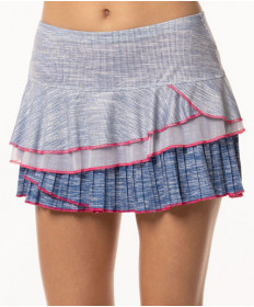 Lucky in Love Shape it Up Mixed Media Rally Skirt Blueberry CB316-667460
