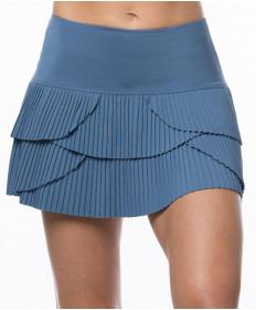 Lucky in Love Celestial Geo Sunrise Pleat Tier 13 Inch Skirt Steel CB341-445