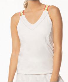 Lucky In Love Neon Vibes Entwine Racerback Tank White CT521-120