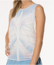 Lucky in Love Celestial Geo Atrial Tie Back Tank Blue Bell CT573-813455