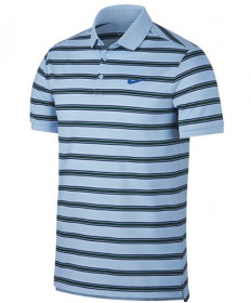 Nike Men's Court Dry Striped Polo Hydrogen Blue 830841-466