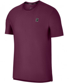 Nike Men's Short Sleeve Checkered Baseline Crew Bordeaux/Black 855279-609