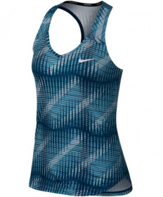 Nike Women's Court Pure Print Tank Blue Force 888168-474