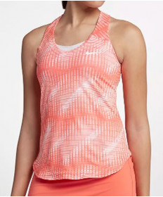 Nike Women's Court Pure Print Tank Light Wild Mango 888168-680