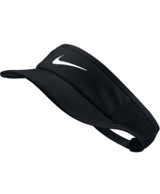 Nike Women's NikeCourt Aerobill Featherlite Visor Black 89965-010