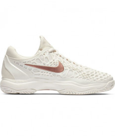 Nike Women's Zoom Cage Hard Court Shoes White/Rose 918199-066