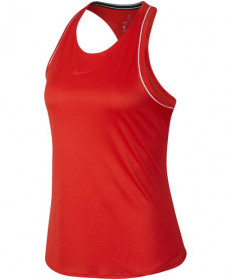Nike Women's Court Dry Tank Habanero Red 93914-634