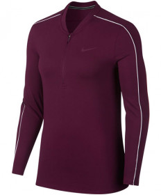 Nike Women's Court Dry Long Sleeve Half Zip Top Bordeaux 939322-609