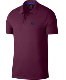 Nike Men's Court Essential Polo Bordeaux AH6762-609