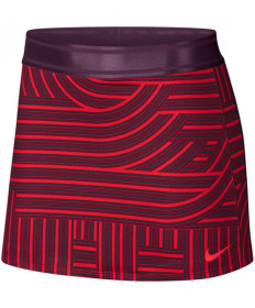Nike Women's Court Dry Print Skirt Havanero Red AH7854-634