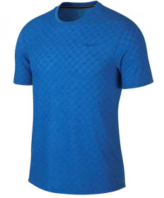 Nike Men's Court Challenger Short Sleeve Top Signal Blue AJ8202-403