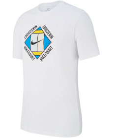 Nike Men's Court OZ Tee T-Shirt GX White AO1138-100