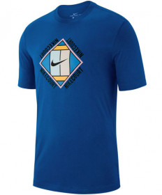 Nike Men's Court OZ Tee T-Shirt GX Indigo Force AO1138-438
