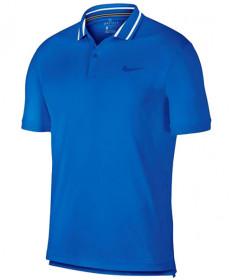 Nike Men's Court Dry Pique Polo Signal Blue BV1194-403