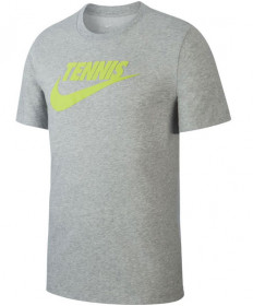 Nike Men's Court Dri FIT Tennis Tee T-Shirt Dark Grey Heather CJ0429-063