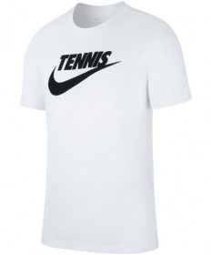 Nike Men's Court Dri FIT Tennis Tee T-Shirt White CJ0429-100