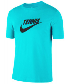 Nike Men's Court Dri FIT Tennis Tee T-Shirt Light Aqua CJ0429-434