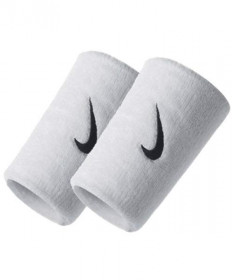 Nike Swoosh Double Wide Wristbands White NNN05-101