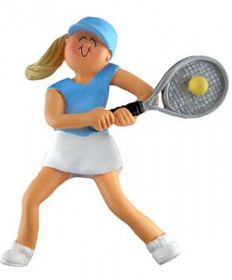 Female Tennis Ornament - Blonde