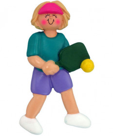 Ornament Central Female Pickleball Ornament Blonde 317-FBL
