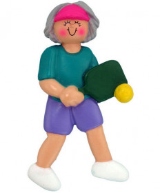 Ornament Central Female Pickleball Ornament Gray 317-FGR