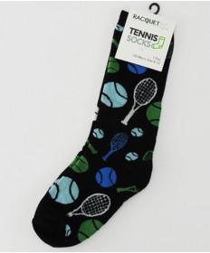 Racquet Inc. Men's Tennis Dress Socks Black MDS