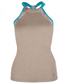 Sofibella Athletic Halter Top Sand Melange 1561-SND