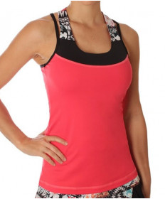 Sofibella Melbourne Athletic Grace Racerback Coral 1791