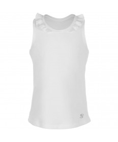 Sofibella Girls' Petal Tank Top White 4579-WHT